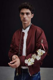 Alpha Industries X UO Rose Sleeve Bomber Jacket by Urban Outfitters at Urban Outfitters