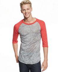 Alternative Apparel Burnout Baseball T-Shirt - T-Shirts - Men - Macys at Macys