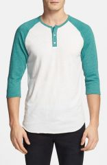 Alternative Trim Fit Heathered Raglan Henley at Nordstrom