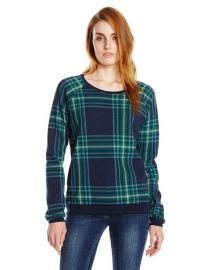 Alternative Womenand39s Dash Pullover Sweatshirt in plaid at Amazon