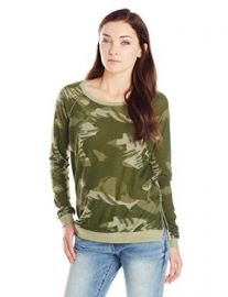 Alternative Womenand39s Locker Room Pullover Paintbrush Camo Small at Amazon