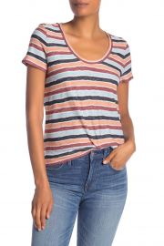Alto Striped Scoop Neck Tee at Nordstrom Rack