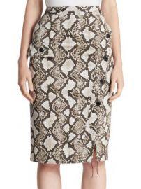 Altuzarra - Curry Python-Print Pencil Skirt at Saks Fifth Avenue