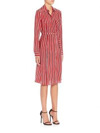 Altuzarra - Marian Striped Silk Shirtdress in Red at Saks Fifth Avenue
