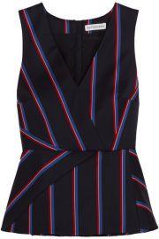 Altuzarra   Miles striped wool and cotton-blend peplum top at Net A Porter