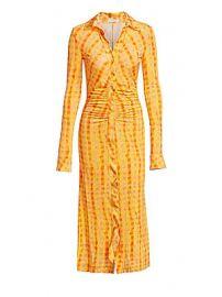 Altuzarra - Ruched Gingham Midi Shirtdress at Saks Fifth Avenue