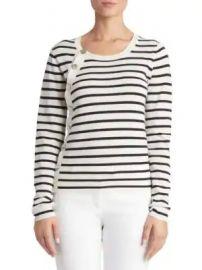 Altuzarra - Stripe-Knit Button Sweater at Saks Fifth Avenue