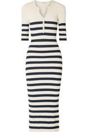 Altuzarra   Sunday striped ribbed stretch-knit midi dress at Net A Porter