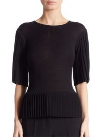 Altuzarra - Tamora Pleated Silk   Cotton Top at Saks Fifth Avenue