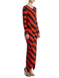 Altuzarra - Whistler Asymmetrical Stripe Ribbed Dress at Saks Fifth Avenue