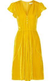 Altuzarra Camilla faux pearl-embellished velvet dress at Net A Porter