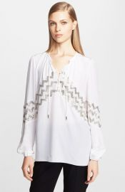 Altuzarra Embroidered Peasant Top at Nordstrom