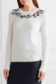 Altuzarra Hermoine embellished merino wool sweater at Net A Porter