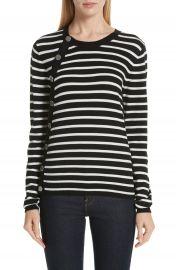 Altuzarra Stripe Button Side Wool Sweater   Nordstrom at Nordstrom