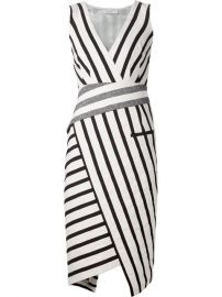 Altuzarra Striped Asymmetric Dress - at Farfetch