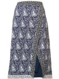 Altuzarra paisley slit pencil skirt at Farfetch