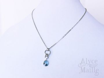AlycenMaille Blue Frost Crystal Pendant Necklace at Etsy