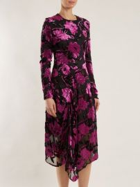 Alyssa floral-devore midi dress by Preen by Thornton Bregazzi at Matches
