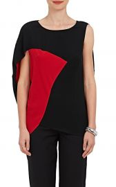 Amale Colorblocked Crepe Blouse by Zero Maria Cornejo at Barneys