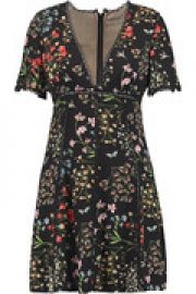 Amara floral-print voile mini dress at The Outnet