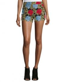 Amaris Lace High-Rise Shorts Multicolor at Neiman Marcus