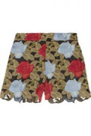 Amaris floral-crochet shorts at The Outnet