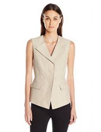 Amazon com  BCBGMAXAZRIA Women  39 s Zip-Front Vest  Clothing at Amazon