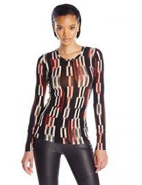 Amazoncom BCBGMAXAZRIA Womenand39s Agda Printed Knit Top Clothing at Amazon