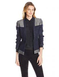 Amazoncom BCBGMAXAZRIA Womenand39s Cliff Blocked Blazer Clothing at Amazon
