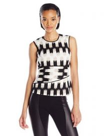 Amazoncom BCBGMAXAZRIA Womenand39s Jolyne Asymmetrical Peplum Top Clothing at Amazon