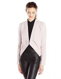 Amazoncom BCBGMAXAZRIA Womenand39s Lloyd Easy Layered Jacket Clothing at Amazon