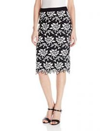 Amazoncom BCBGMAXAZRIA Womenand39s Sascha Cutwork-Hem Pencil Skirt Clothing at Amazon