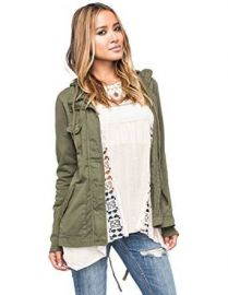 Amazoncom FULL TILT Eyelet Back Womens Anorak Jacket Clothing at Amazon
