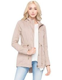 Amazoncom FULL TILT Hooded Twill Womens Anorak Jacket Clothing at Amazon