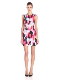 Amazoncom French Connection Womenand39s Miami Graffiti-Printed Sheath Dress Clothing at Amazon