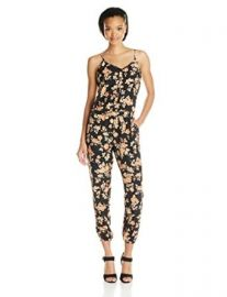 Amazoncom Jack by BB Dakota Womenand39s Jaylynn Vintage Rose Printed Crepon Jumpsuit Clothing at Amazon