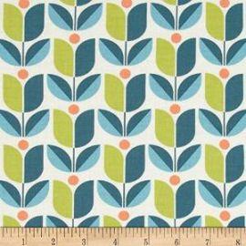 Amazoncom Joel Dewberry Flora Tulip Eucalyptus Fabric at Amazon