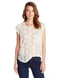 Amazoncom Joie Womenand39s Dalliance Geometric Mesh Blouse Clothing at Amazon