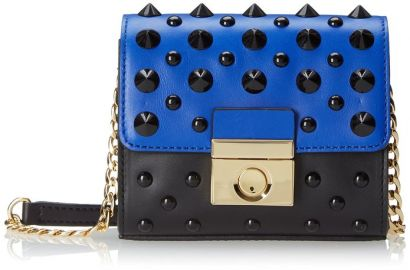 Amazoncom MILLY Sienna Stud Mini Cross Body Bag Blue at Amazon