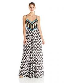 Amazoncom Mara Hoffman Womenand39s Embellished Maxi Dress Clothing at Amazon