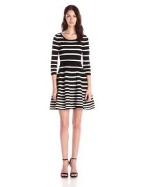Amazoncom Milly Womenand39s Grading Stripe Dress Clothing at Amazon