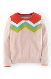 Amazoncom Mini Boden GirlsToddlers Crewneck Sweater Chevron Pink Clothing at Amazon