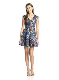 Amazoncom Nanette Lepore Womenand39s Painterly Dress Clothing at Amazon