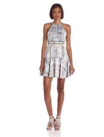 Amazoncom Parker Womenand39s Brady Fit and Flare Dress Multi Medium Clothing at Amazon