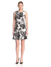 Wornontv jessies black and white floral dress on jessie debby amazoncom rebecca taylor womenand39s splashy flower flounce dress clothing at amazon mightylinksfo