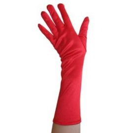 Amazoncom Red Satin Gloves Elbow Length  Formal Wedding Theatrical Costume Party Clothing at Amazon