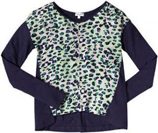 Amazoncom Splendid Leopard Vneck Top Kid Navy Clothing at Amazon