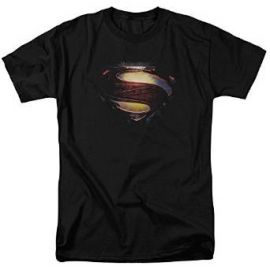 Amazoncom Superman Man of Steel Grungy andquotSandquot Shield T-Shirt 2013 Movie T-Shirt Clothing at Amazon