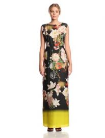 Amazoncom Ted Baker Womenand39s Jasmyne Opulent Bloom Print Evening Gown Clothing at Amazon