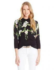Amazoncom Ted Baker Womenand39s Nellia Secret Trellis Collar Knit Sweater Clothing at Amazon
